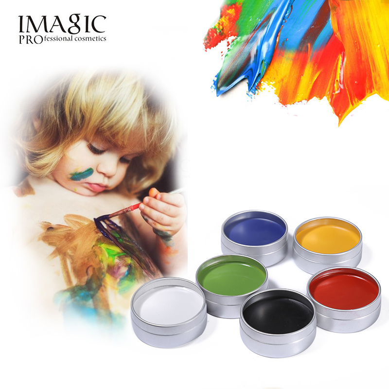 6PC Body Painting Halloween Party Fancy Dress Tool Imagic Face Body Paint Tattoo Makeup Flash Temporary Fluorescent Oil Painting(China (Mainland))