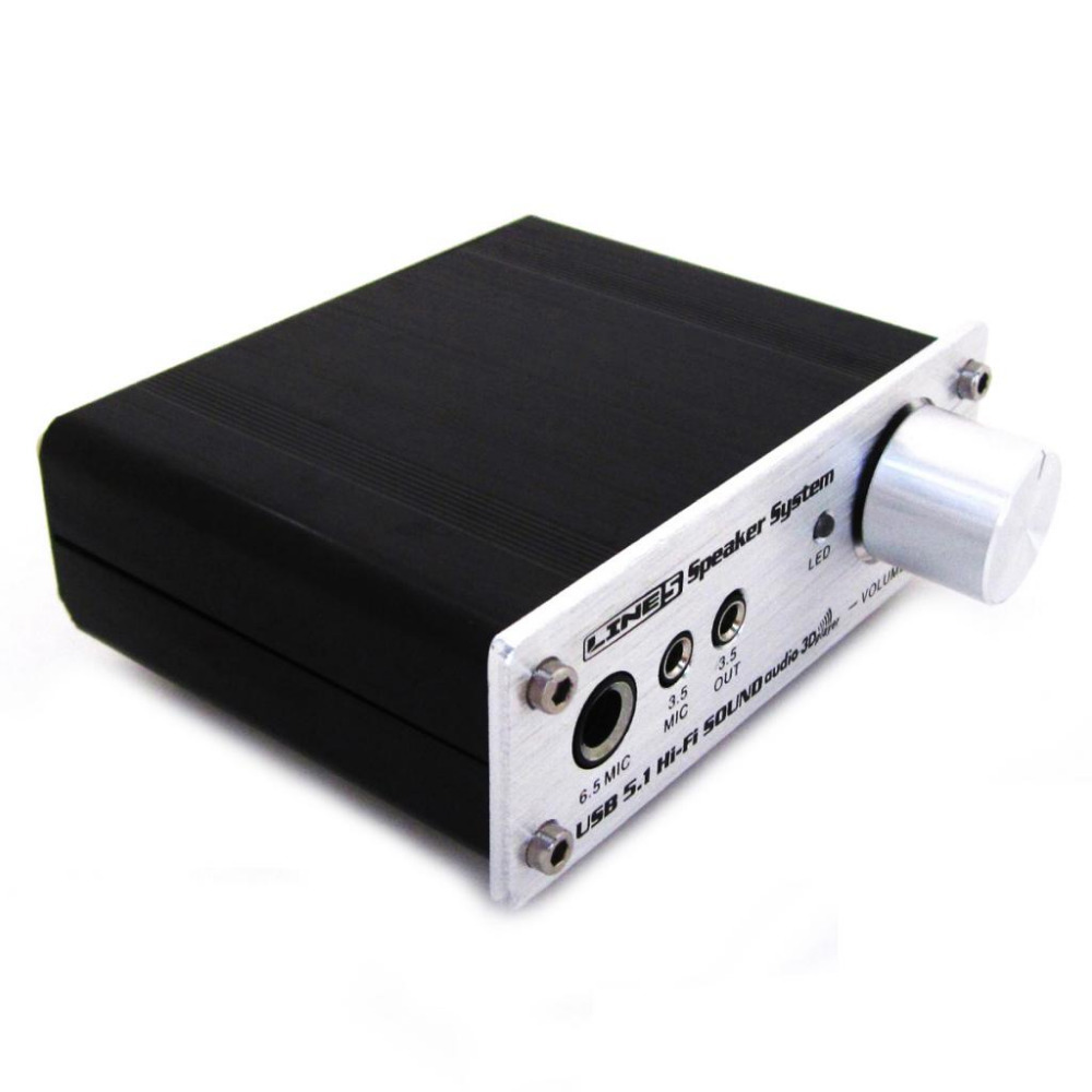 5pc Stereo surround sound audio computer audio fidelity output computer audio device audio 3D player Amplifier 2.0/2.1/4.0/5.1(China (Mainland))