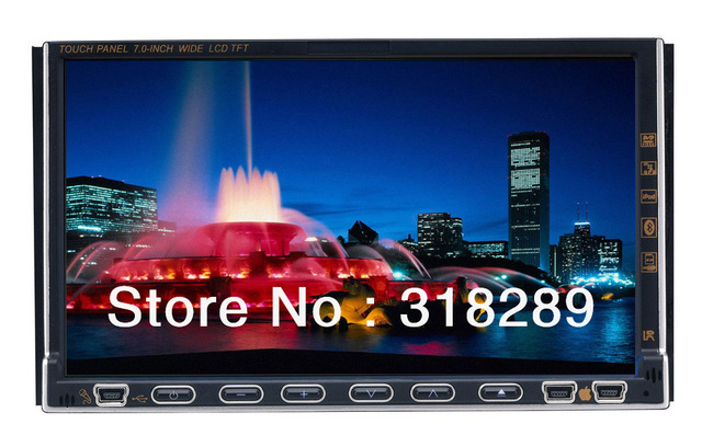 new 7 inch double din car dvd gps and dvd player universally 2 din DVD car player Free shipping