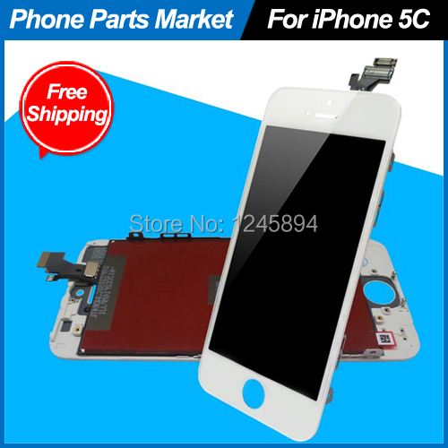 White For Apple iPhone 5C LCD With OEM Front Glass Assembly Replacement Screen Repair Free Shipping(China (Mainland))