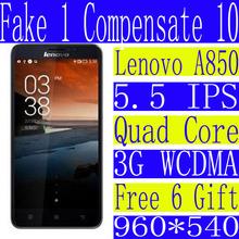 Original Lenovo A850 Dual SIM Quad Core smartphone 5 5 IPS android mtk6592 1G RAM 4G