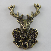 Buy 3pcs Antique Bronze Tone Deer Charms Necklace Pendant Jewelry Accessories Making Man Women Retro Style Jewelry 51*38*7mm 50703 for $1.20 in AliExpress store
