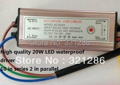 High quality 20W LED Waterproof Integrated LED Driver LED Power Supply Constant Current AC110-260V 600mA for 20W LED Flood light<br><br>Aliexpress