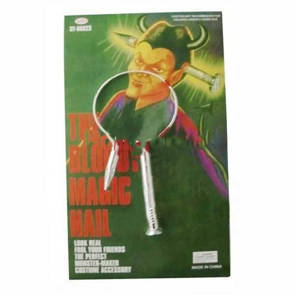 Auburdale April Fools Day Kuso Supplies Props The Bloody Magic Nail(China (Mainland))