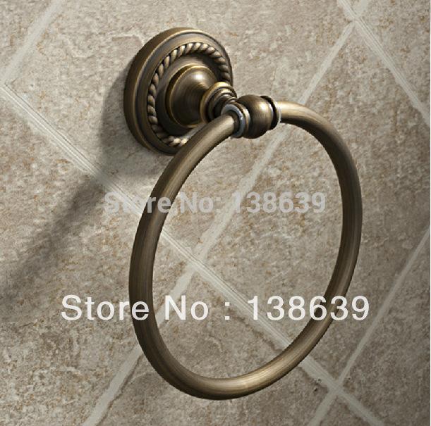 mount antique bronze towel ring bathroom towel holder bath hardware