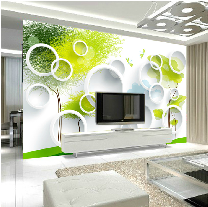 Mural dream 3d three dimensional mural wallpaper circle tv for 3 dimensional wallpapers 3d