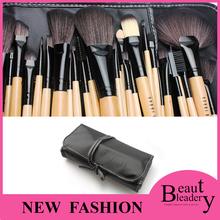 Professional makeup brushes 2015 32 PCS Makeup brushes Make up Tools goat hair kit of Cosmetic Set Brush+ Black Leather Bag(China (Mainland))