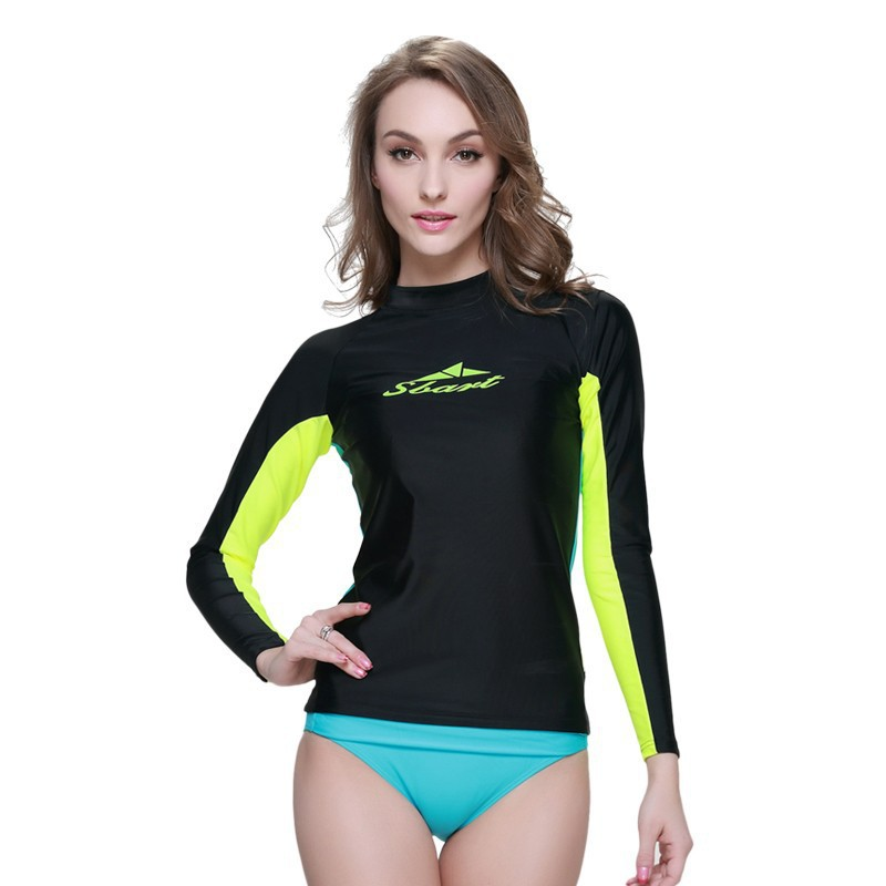Sbart upf50 woman rashguard lycra surfing diving suit wet suit for diving swimming and surfing , surfing swimsuits for women(China (Mainland))
