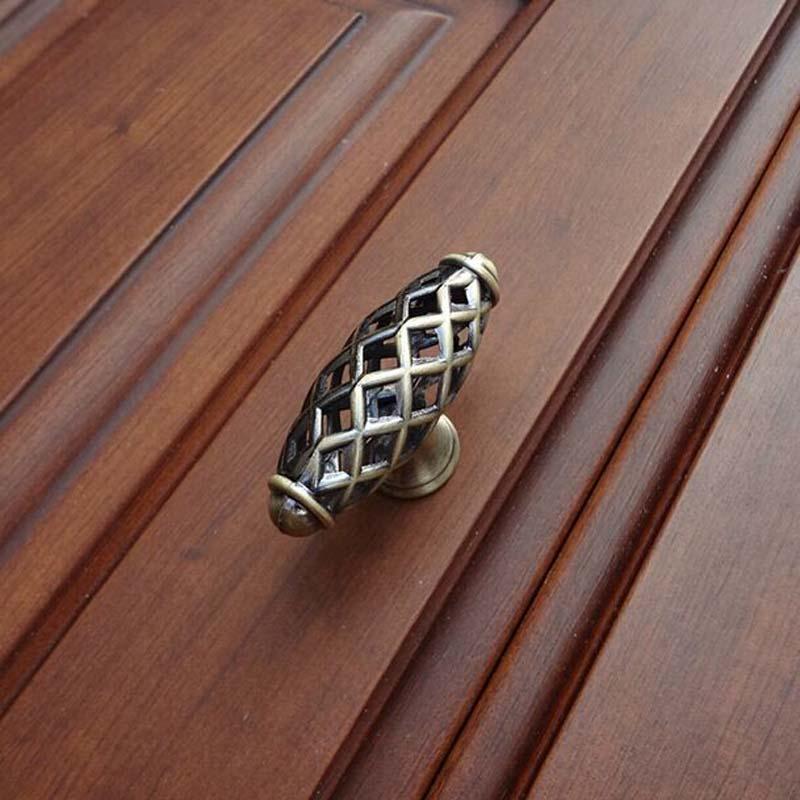 Kichen Cabinet Knobs 60mm birdcage drawer pulls bronze Zinc alloy Cupboard Dresser wardrobe Furniture Handles pulls knobs<br><br>Aliexpress