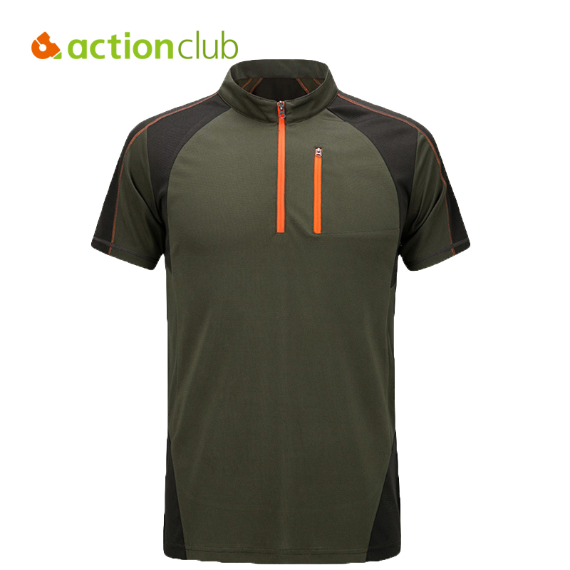 Actionclub Brand Hiking T Shirt Men Quick Dry Coolmax T Shirt Homme Camping Fitness Running Couple Outdoor Sport T-shirt SR292(China (Mainland))