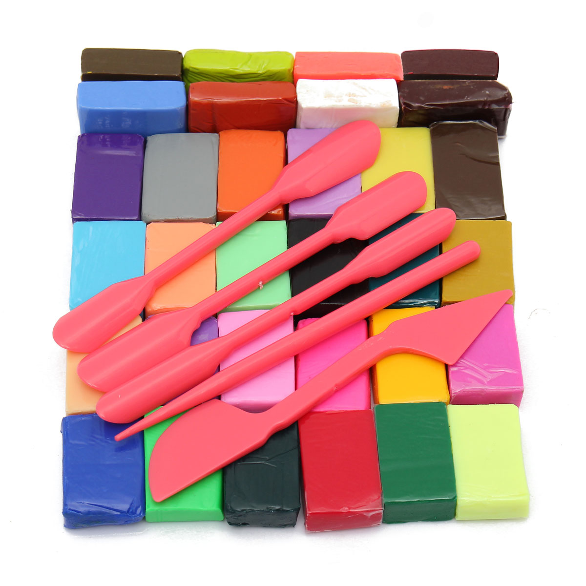 Wholesale 32 Color Oven Bake Polymer Clay Block Modelling Moulding Sculpey 5DIY Tool Hand Making Education Toy Children Favorite(China (Mainland))