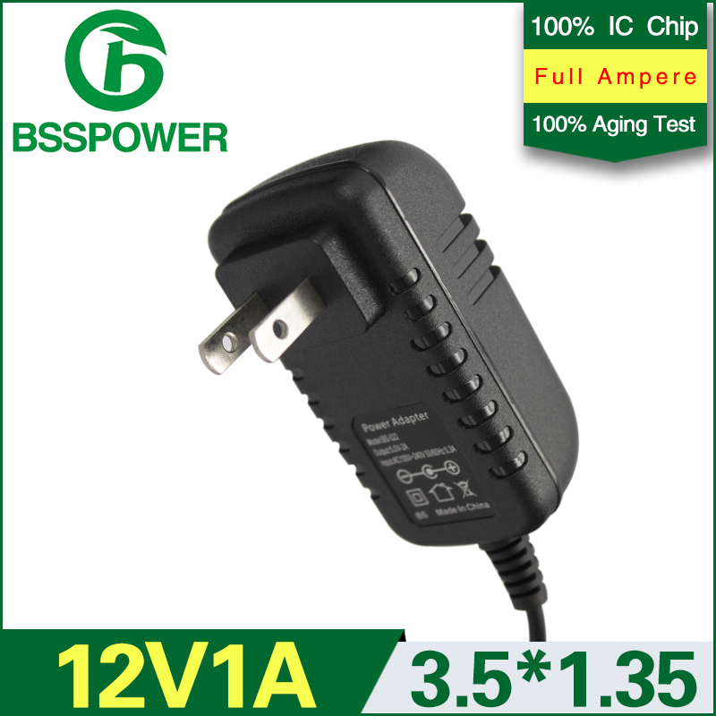High Quality AC 100-240V DC 12V 1A Power Supply Adaptor 3.5*1.35mm US Plug(China (Mainland))
