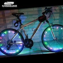 Buy 1pcs 20 LED Bike Wheel Lights Waterproof Colorful Bicycle Lights Bike Lamp Cycling Wheel Spoke Night Safety Riding Lamp for $4.09 in AliExpress store