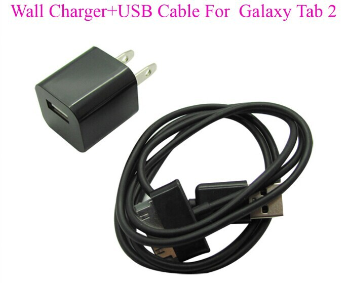 home wall charger usb cable for samsung galaxy tab tab2 2 ii 7 8 9 10