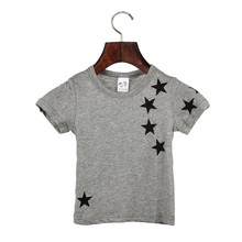 Delicato 2015 bambini di estate boy capretti del cotone stella manica corta top o neck t shirt tees nor51111 p14(China (Mainland))