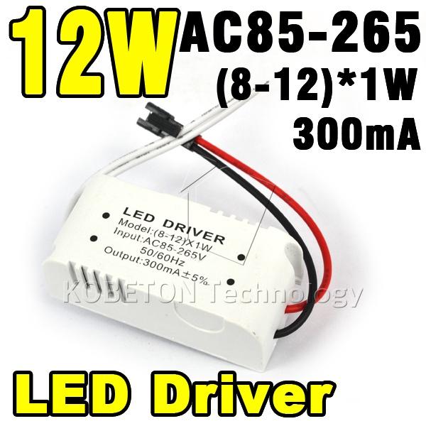 300mA 8W LED Driver 9W 10W 11W 12W * 1W Lighting Transformers Power Supply STrip Lihgt Lamp Durable - KBT Technology store
