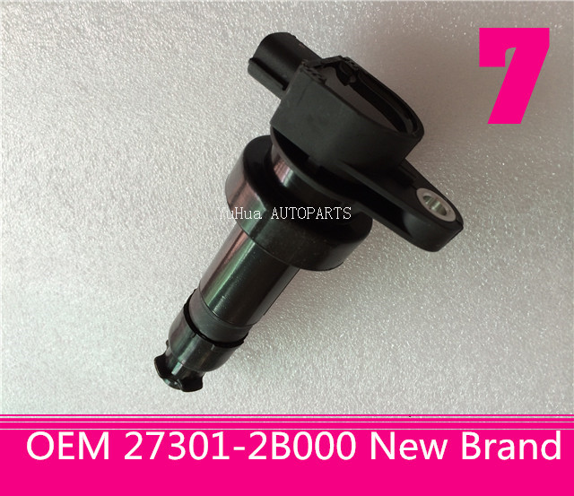 set(4) New Complete High Performance Ignition Coil For KIA Soul Venga V4 1.6L 27301-2B000(China (Mainland))