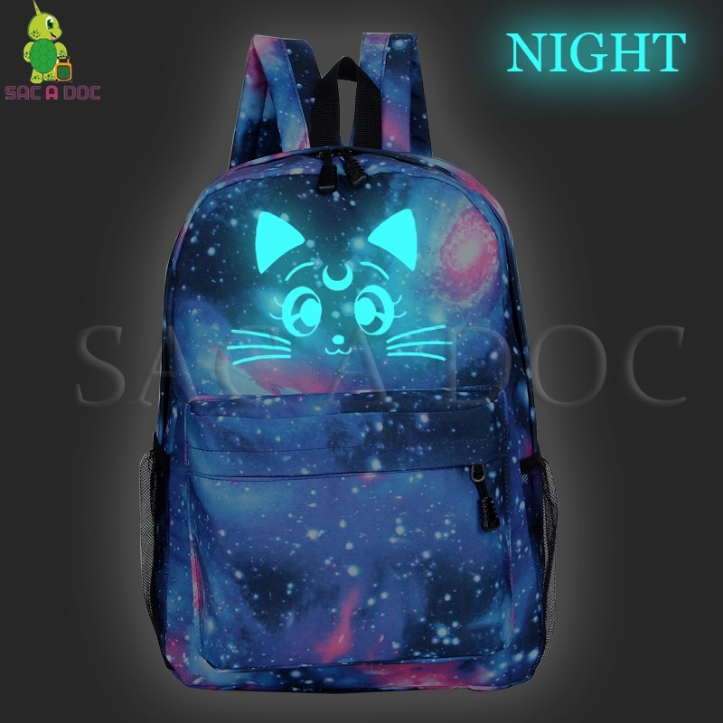 8ae4939af72b Galaxy Sailor Moon Luminous Backpack Children School Bags Casual ...