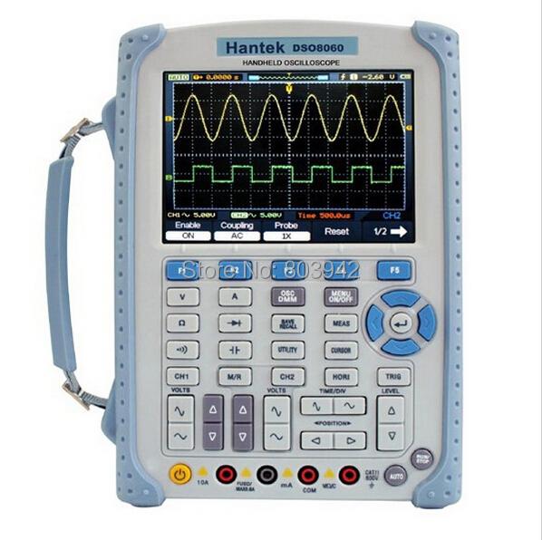 Hantek DSO8060 Five-in-one Handheld Oscilloscope DMM/ Spectrum Analyzer/Frequency Counter/Arbtrary Waveform generator<br><br>Aliexpress
