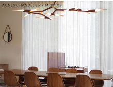 Roll Hill Agnes Chandelier Modern Chandelier 14 Head Chandelier Light Lighting Design by Lindsey Adams Adelman +Free shipping!(China (Mainland))