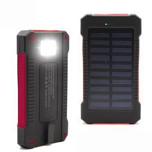 2016 New Portable Waterproof Solar Power Bank 10000mah Dual-USB Solar Battery Charger powerbank for all Phone Universal Charger(China (Mainland))