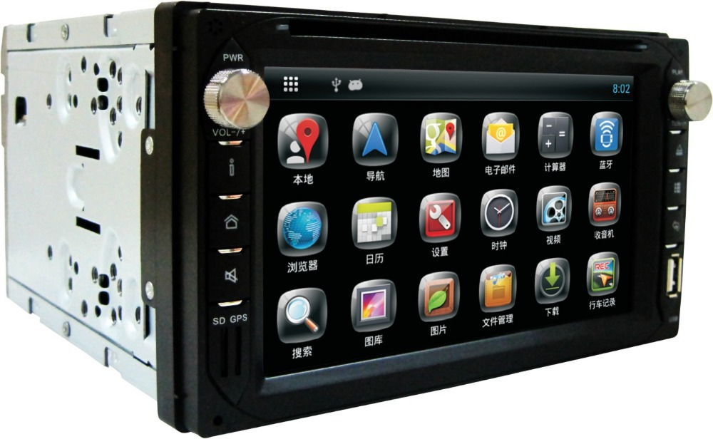 DVD Player Interchangeable Car Stereo Android 2 din Car DVD GPS Universal Radio Car Back Camera Input(China (Mainland))