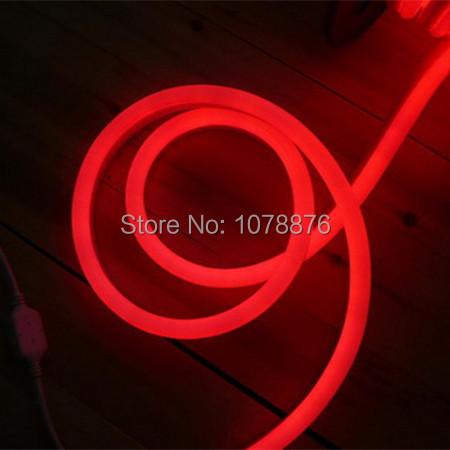 24V flexible Led Neon tube flex light red waterproof outdoor led neon flex rope strip(China (Mainland))
