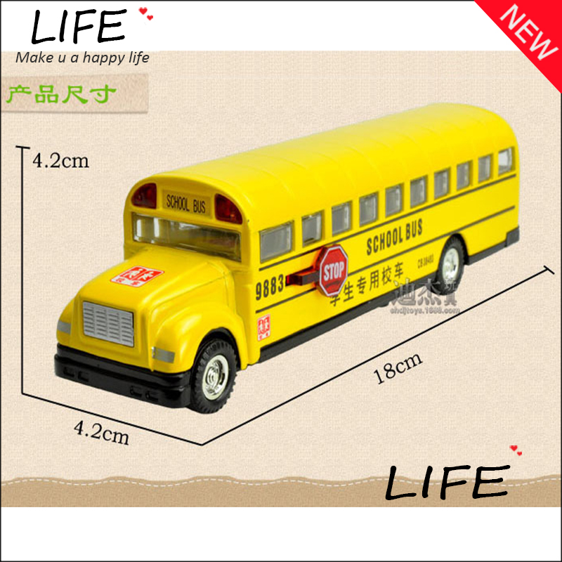 Free Shipping Alloy Luxurious School Bus Models For Kids Toys Wholesale Longest School Bus Models(China (Mainland))