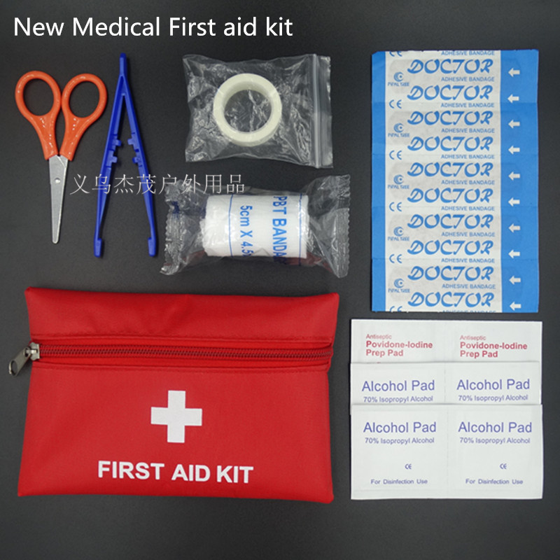 New Wholesale First Aid Kit Outdoor Survival kit Small first aid kit Bag Emergency Car first aid kit Size 16*11CM(China (Mainland))