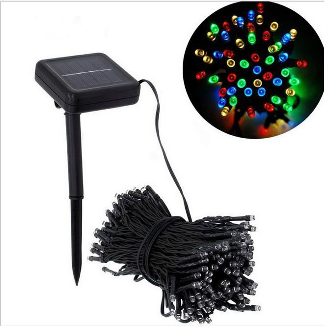 19m Christmas RGB LED Strip Light 200 Leds Waterproof Flexible LED Tape Lamp Solar Bar Light String Holiday Decoration Lights(China (Mainland))