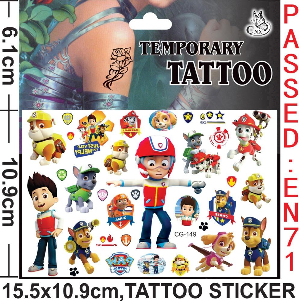 All free shipping 420pcs paw patrol for Paw patrol tattoos
