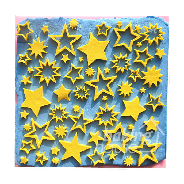 Five-pointed star set Silicone Mold Cake Mold Silicone Baking Tools Kitchen Accessories Decorations Fondant DIY #0812(China (Mainland))