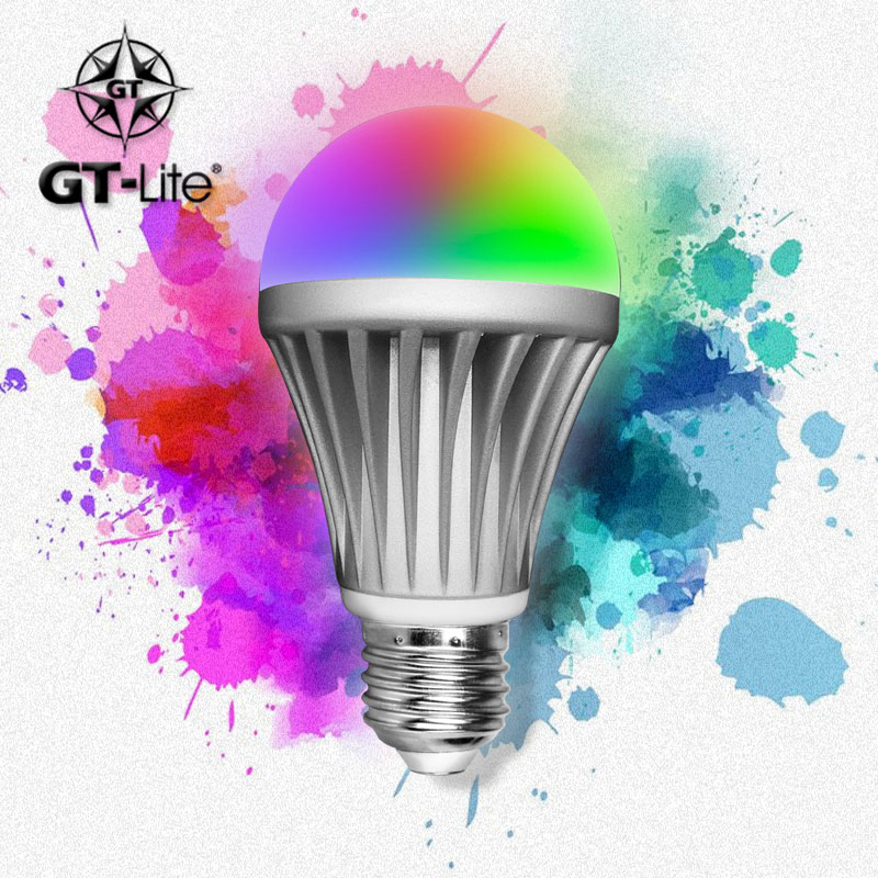 GT-Lite,Bluetooth Smart LED Light Bulb,Smartphone Controlled Dimmable Multicolored RGB,Work with iPhone, iPad, Android Phone(China (Mainland))