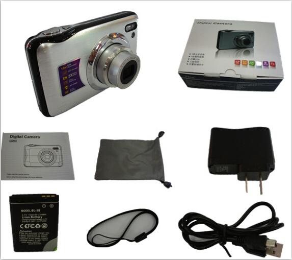 silver hd camaras digitales15.0Mega pixels Digital Camera 2.7inch LCD 3X Digital ZOOM professional photo cameras Free shipping(China (Mainland))