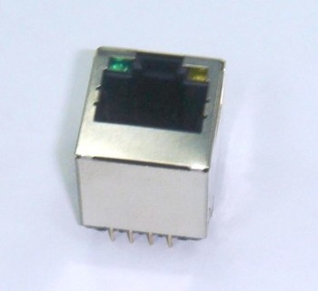 Top Entry RJ45 shielded with Led 8p8c 180 degree network connector