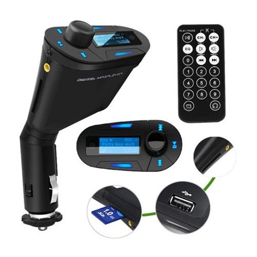 Car Kit Mp3 Player Wireless FM Transmitter Modulator USB Sd MMC Slot with Remote Fast Shipping(China (Mainland))