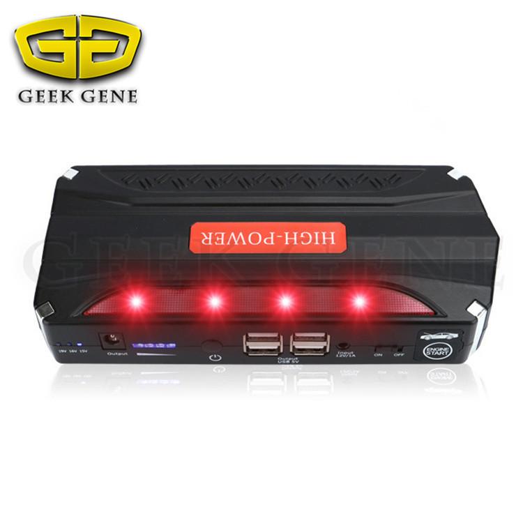 Emergency Multi-function Car jump starter High Power portable power bank Auto Start Jumper Police lights Life hammer USB DC port(China (Mainland))