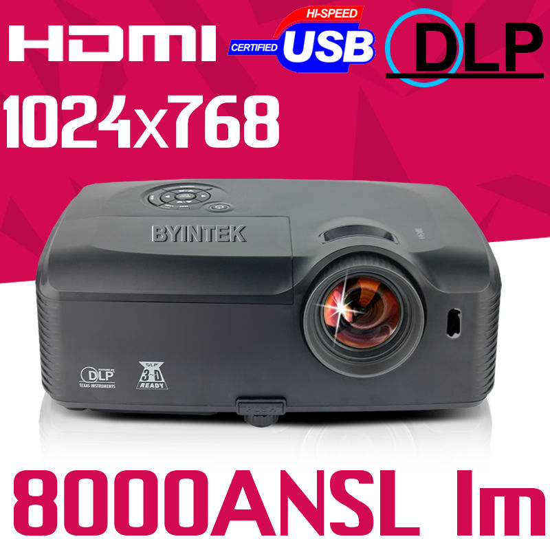 300inch 8000ANSI lm super High Brightness USB HDMI VGA colorful video Digital 1080p full HD DLP Projector Proyector beamer(China (Mainland))