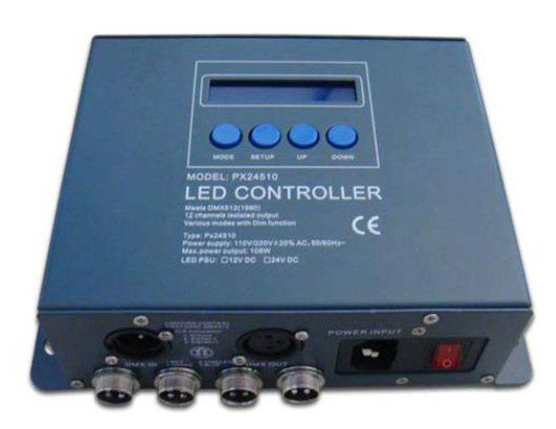 Фотография dmx constant voltage decoder,AC110-240V input,1A*12channel output