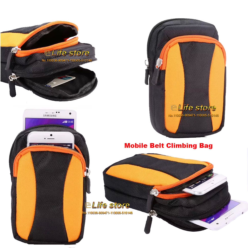 Nylon Case Outdoor Sport Bag Belt Clip Mobile Phone Climbing Sony Xperia Z L36H C6603 C6602 - OEMCity Lyn store