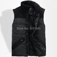 New Men's Black Hoodie Vest  Sleeveless Casual Waistcoats Warm Winter Coat US M,L,XL(China (Mainland))