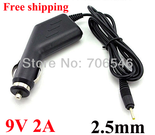 High QualityDC 9V 2A 2.5mm Car Adapter For MID Google Android Tablet PC 2.5mm Charger Power Cord 100pcs DHL Free shipping(China (Mainland))