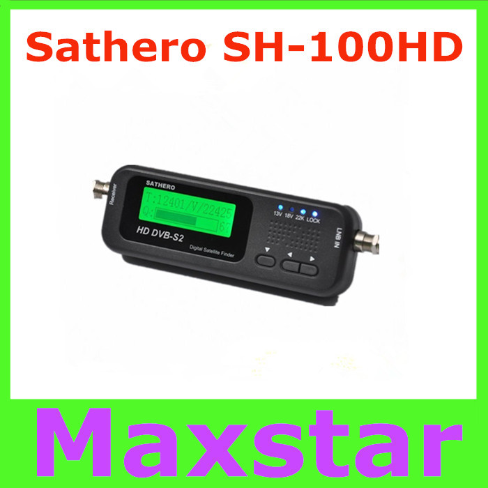 Original Sathero Pocket Digital Satellite Finder Meter SH-100HD HD DVBS2 USB 2.0 Signal Digital Sat Finder HD free shipping post(China (Mainland))