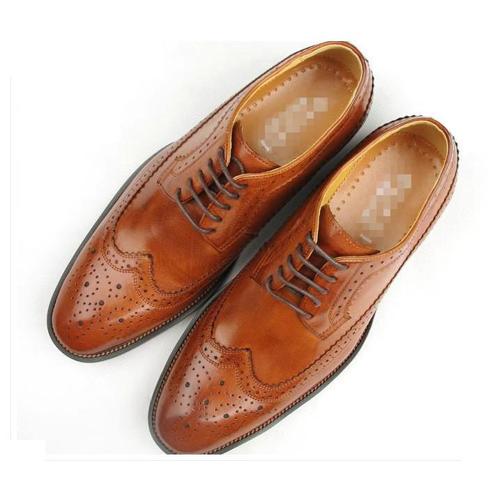 Fashion wedding shoe men's Genuine leather Derby shoes business dress British Style large size 38-46