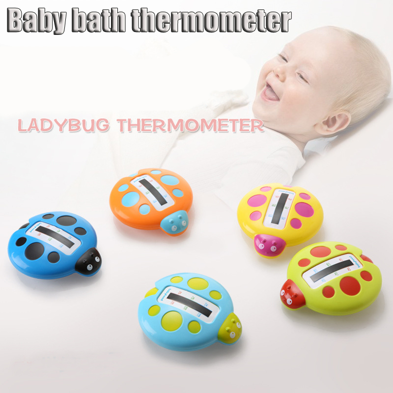 Newborn Water Thermometers Ladybug Image Baby Bath Thermometer Bathtubs Shower Testing Water Temperature Kids Security Supplies(China (Mainland))