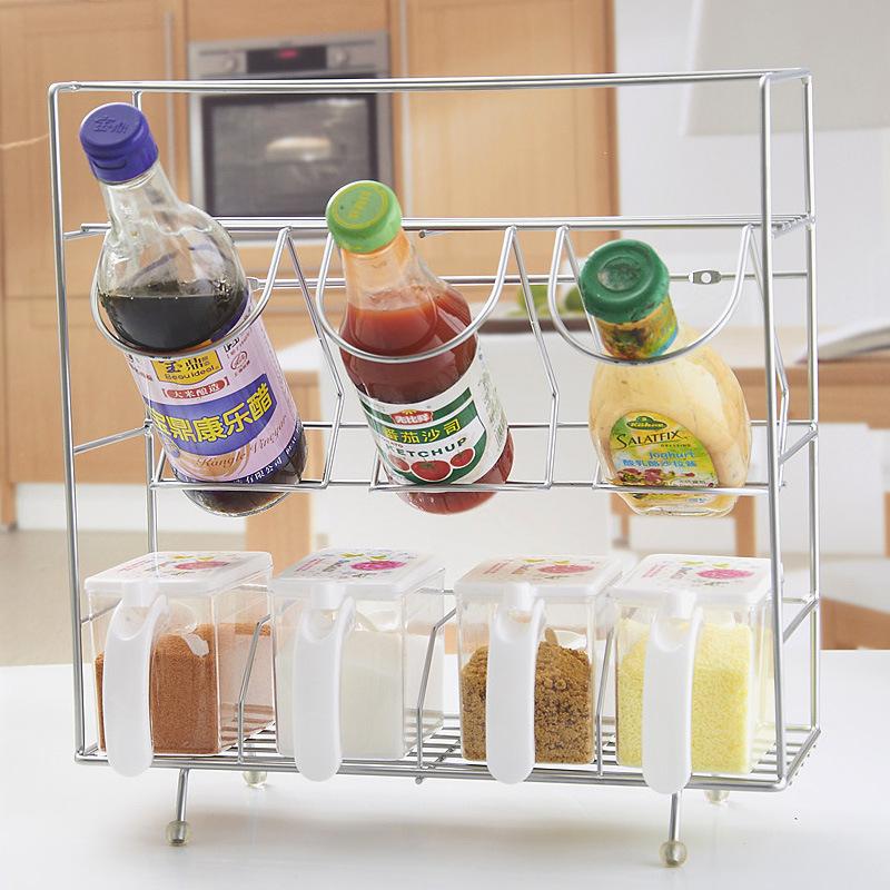 Tian Ning kitchen shelving storage rack storage rack shelf metal condiment sauces Specials(China (Mainland))