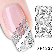 1Pcs Nail Art Water Sticker Nails Beauty Wraps Foil Polish Decals Temporary Tattoos Watermark + Free Shipping (XF1337)