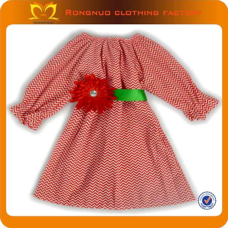 Bonnie baby christmas dresses 100% cotton long sleeve evening dress 18PCS/LOT(China (Mainland))