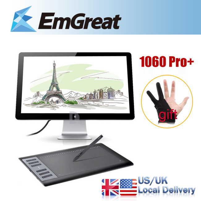 Цифровой планшет HUION 1060 Pro + tableta grafica , H610 Pro + 1060 PRO+ цифровой планшет huion 1060 pro dhl 1060 pro