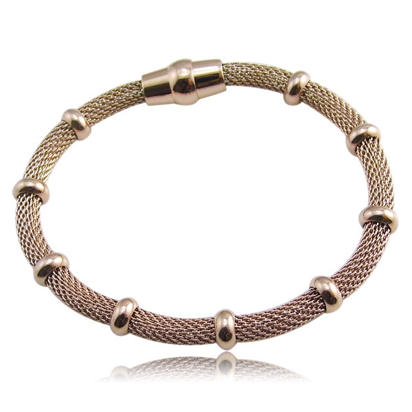 2015 High Quality Cable Chain Wire Twist Bracelets With Magnet Clasp Fashion Jewelry Titanium Stainless Steel Bracelets Bangles(China (Mainland))